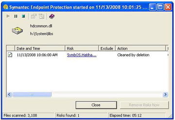 symantec-endpoint-protection i n scan